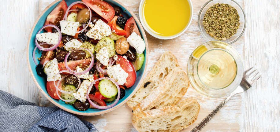 La salade grecque diététique