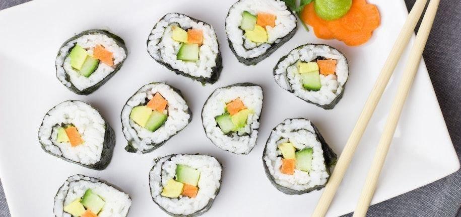 Les sushis pauvres en glucides