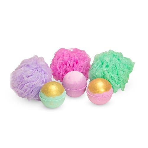 Bath bomb + Shower puff